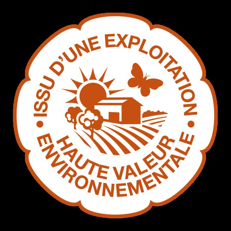 Logo issu d'une exploitation Haute Valeur environnementale